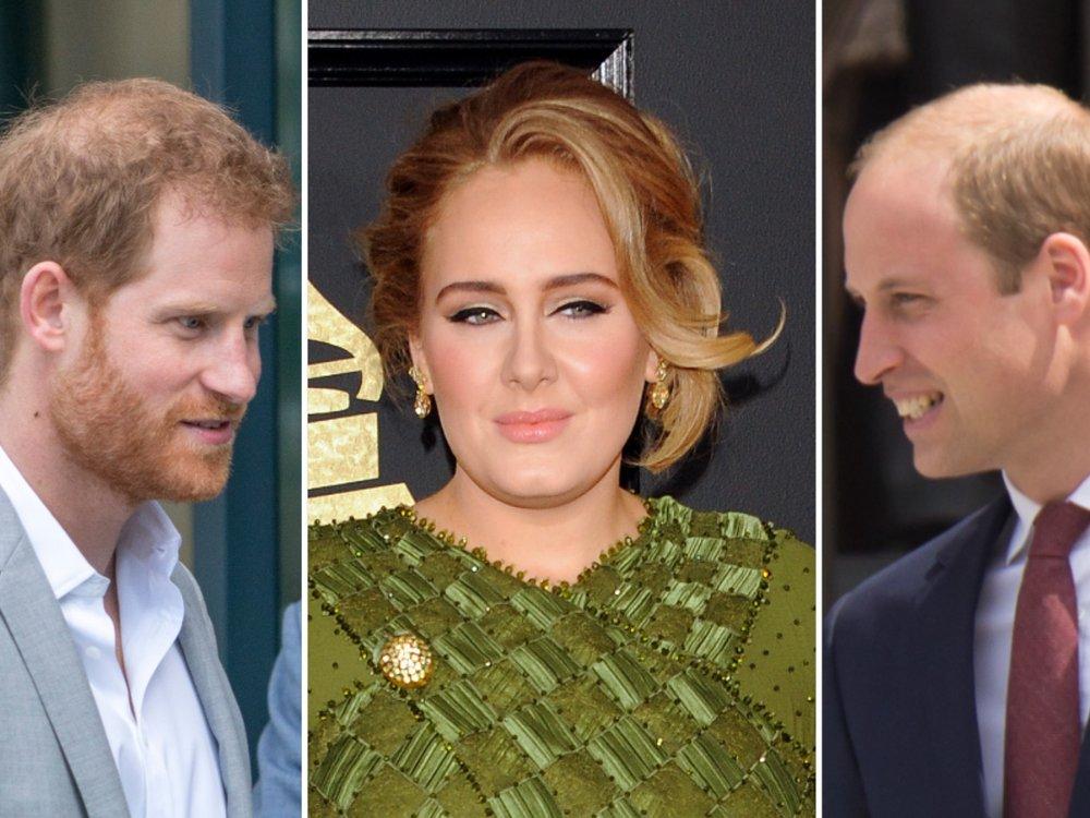 Adele muss sich entscheiden: Lieber Prinz William oder Prinz Harry?