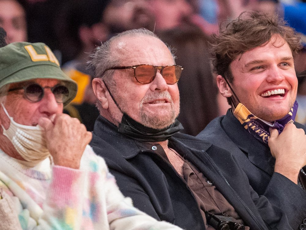 Jack Nicholson: Seltener öffentlicher Auftritt bei NBA-Spiel
