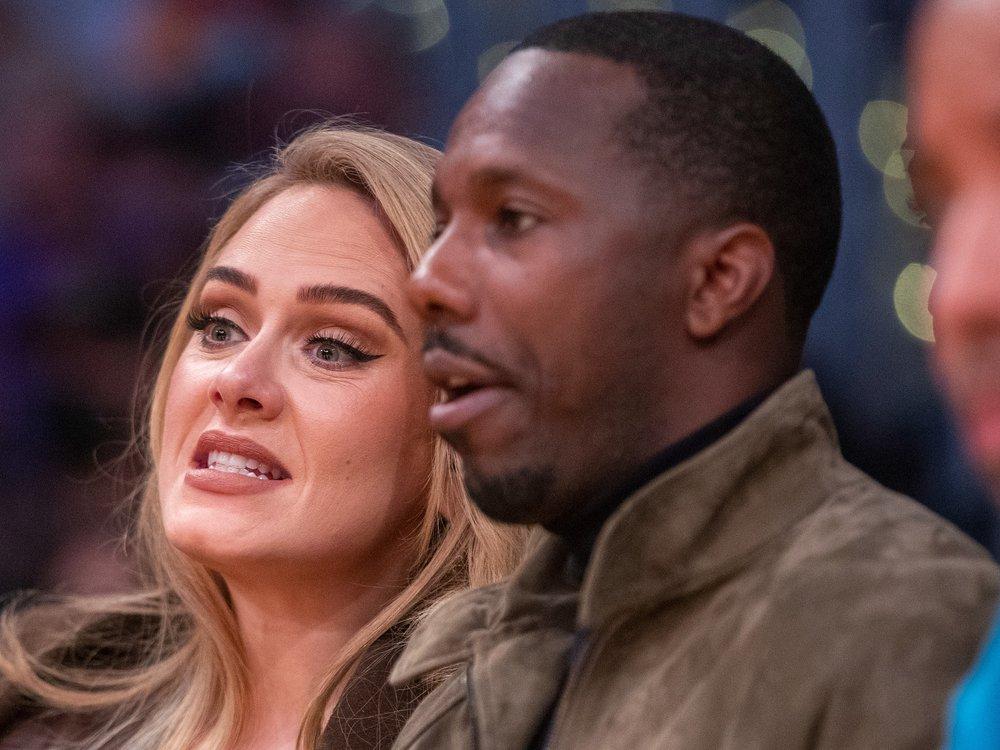 Adele und ihr Freund Rich Paul amüsieren sich bei Basketball-Date