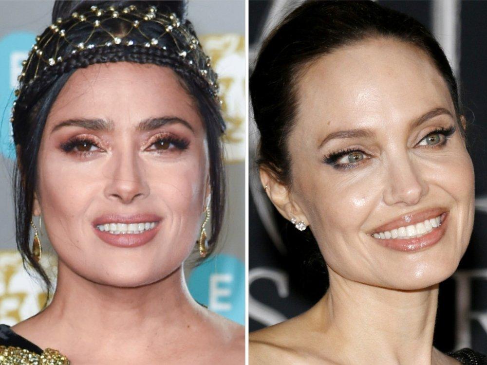 Geburtstagstorte im Gesicht: Salma Hayek feiert mit Angelina Jolie