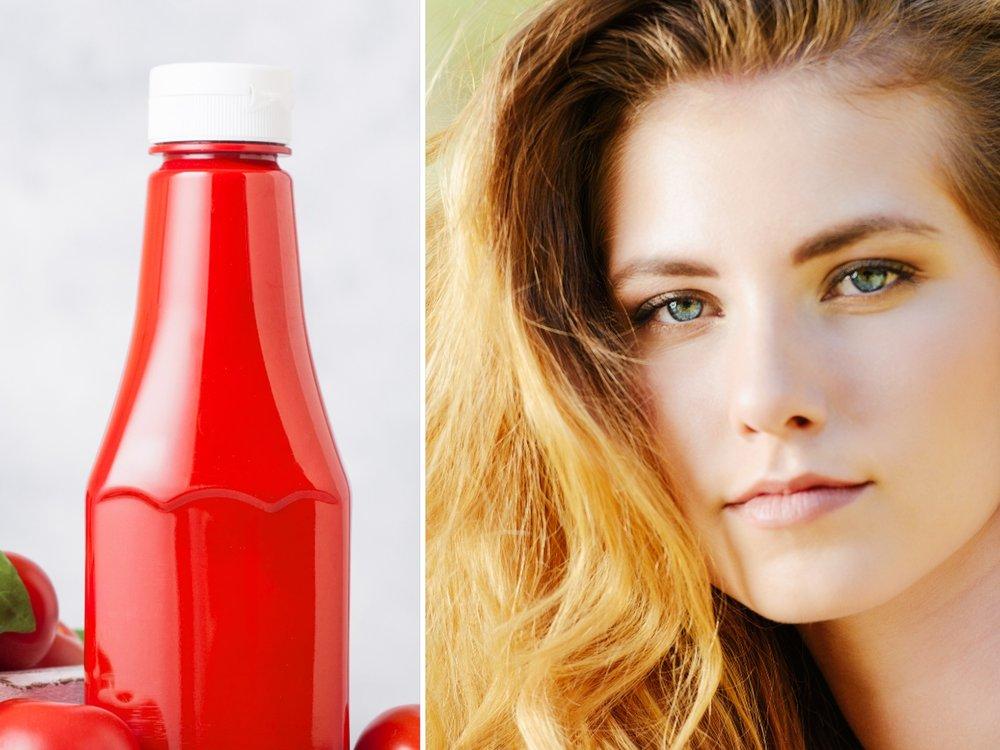 Wundermittel Ketchup? So hilft das Produkt sonnengeschädigten Haaren